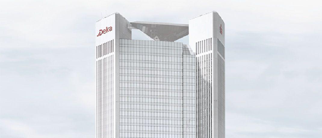 Trianon im Westend von Frankfurt: Der 1993 fertiggestellte Wolkenkratzer ist der Hauptsitz der Dekabank, dem Wertpapierhaus der deutschen Sparkassen-Finanzgruppe.|© DSGV