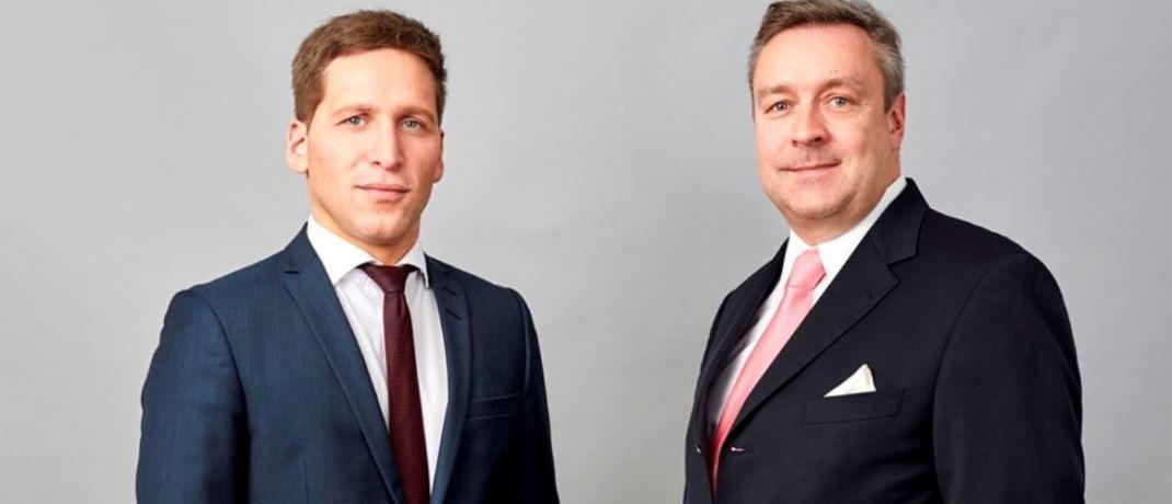 """: Ufuk Boydak (l.) und Christoph Bruns (r.), Vorstandsmitglieder der Fondsboutique Loys: """"An den Aktienmärkten sind die Entwicklungen für die Zinsmärkte durchaus nicht unbeachtet geblieben""""."""