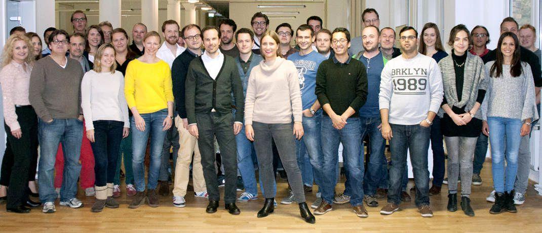Teamfoto der Weltsparen-Mitarbeiter: Die Berliner Fintech-Firma Raisin verwaltet nach Unternehmensangaben Sparkonten von mehr als 100.000 Kunden.|© Raisin