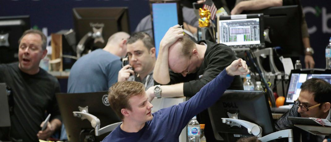 Trader an der Chicago Board Options Exchange (CBOE): An der US-Terminbörse wird täglich der CBOE Volatility Index (Vix) veröffentlicht. | © Getty Images