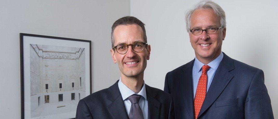 Ernst Konrad (l.) und Georg Graf von Wallwitz (r.), Fondsmanager der Phaidros Funds und Geschäftsführer von Eyb & Wallwitz Vermögensmanagement, nehmen den Handelsstreit zwischen den USA und den engsten Verbündeten der Staaten ins Visier.