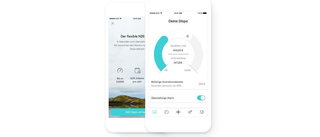 Screenshots der N26-App: Das Berliner Unternehmen startete im Oktober ihr Sparangebot und ihren Überziehungsrahmen auch in Österreich. N26 bietet Privatkunden Finanzprodukte und -dienstleistungen über eine Plattform an, die speziell für Smartphones entwickelt wurde. Die Gesellschaft hat bislang rund 9 Milliarden Euro an Transaktionsvolumen abgewickelt.|© obs/N26 GmbH/n26.com