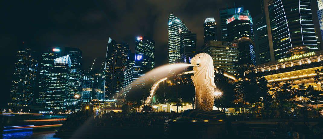 Merlionbrunnen in Singapur: In der südostasiatischen Metropole sind die Lebenshaltungskosten weltweit am höchsten.