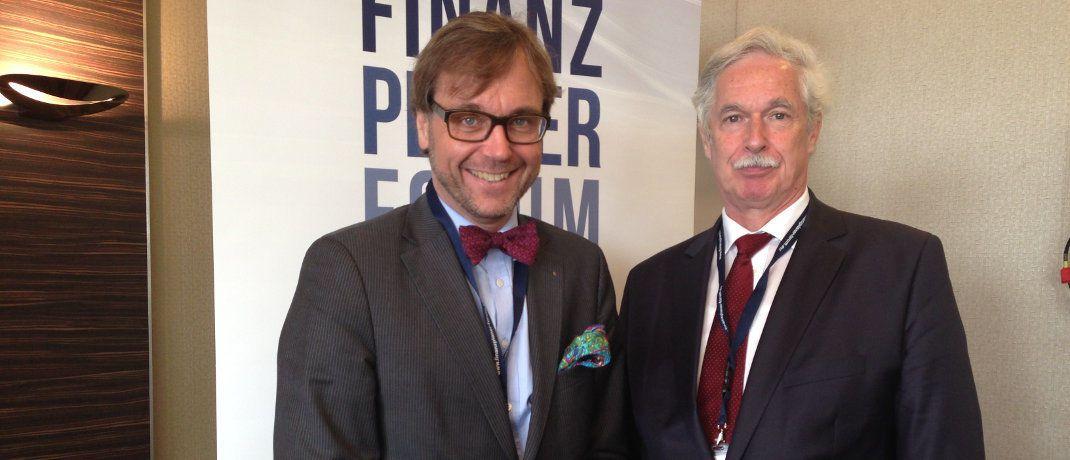 Die Veranstalter des Finanzplaner Forum, Guido Küsters (li.) und Otto Lucius, erläutern im Interview ihre aktuellen Projekte. |© DAS INVESTMENT