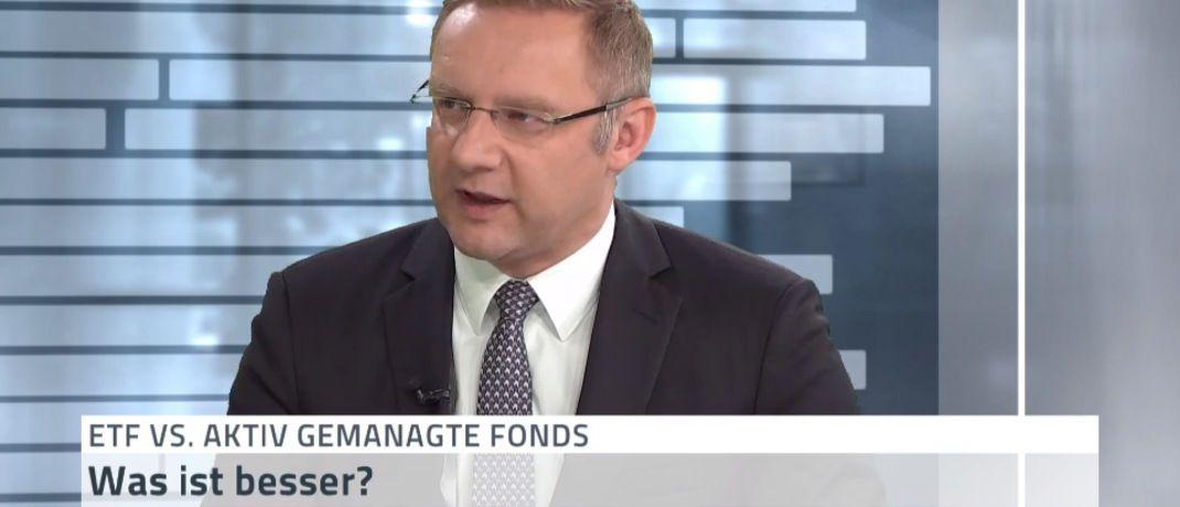 Eckhard Sauren: Der Kölner Dachfonds-Manager wettet um eine Million Euro. Diesen Einsatz muss der Verlierer an wohltätige Organisationen spenden. |© Screenshot N-TV