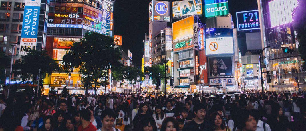 Straßenszene in Tokio: Japanische Aktien gelten bei vielen ETF-Anlegern derzeit als attraktiv.|© Negative Space