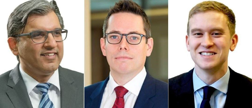 Von links nach rechts: Salman Ahmed, Leitender Investmentstratege, Charles St-Arnaud, Senior Investment Strategist und Jamie Salt, Analyst bei Lombard Odier Investment Managers