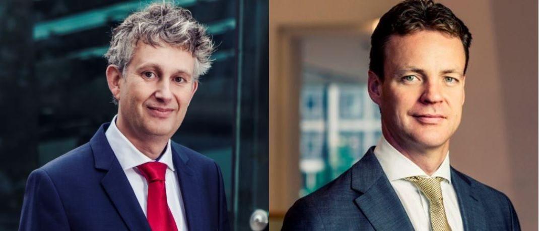 Sind derzeit vorsichtig positioniert: Sander Bus (l.) und Victor Verberk, Co-Heads des Unternehmensanleihen-Teams bei Robeco