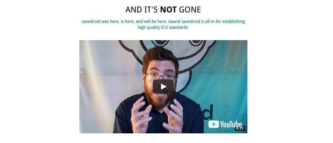 Screenshot des Videos, das Savedroid seit heute Vormittag über seine Internetseite verbreitet. Darin zu sehen: Firmenmitgründer und -chef Yassin Hankir.|© Savedroid