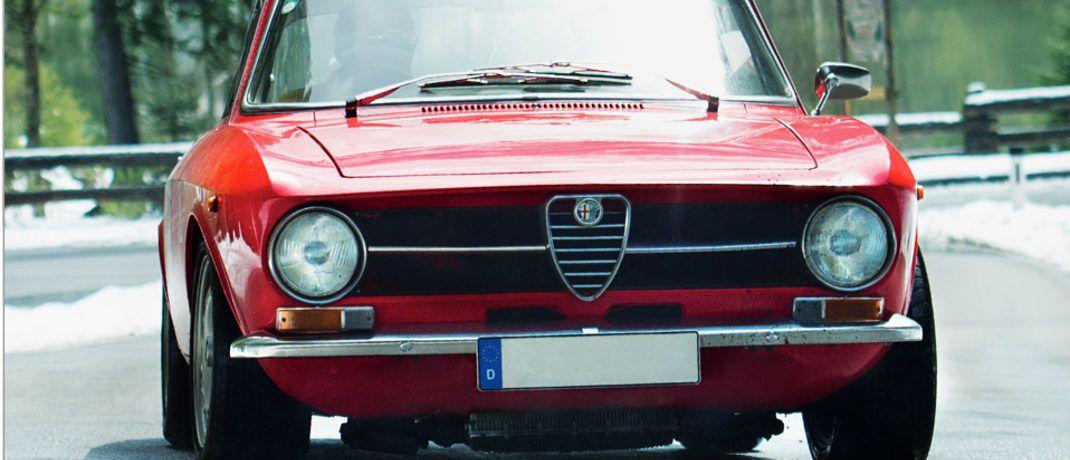 Alfi heißt der Alfa Romeo von Till Waitzinger.|© Till Waitzinger