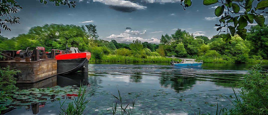Die Havel in der Nähe von Hennigsdorf, Brandenburg: Im Landkreis Oberhavel gibt es laut Wohnatlas noch erschwingliche Immobilien zu kaufen|© Tilgnerpictures/Pixabay