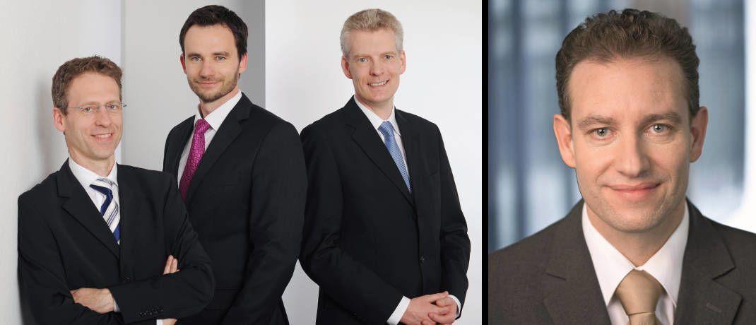 Bild links: Das Mars-AM-Team Jens Kummer (li.), Damian Krzizok (M.) und Andreas Bichler; Bild rechts: Markus Kaiser, Vorstandsmitglied bei Starcapital und Leiter für regelbasierte Multi-Asset-Strategien|© Mars AM, Starcapital