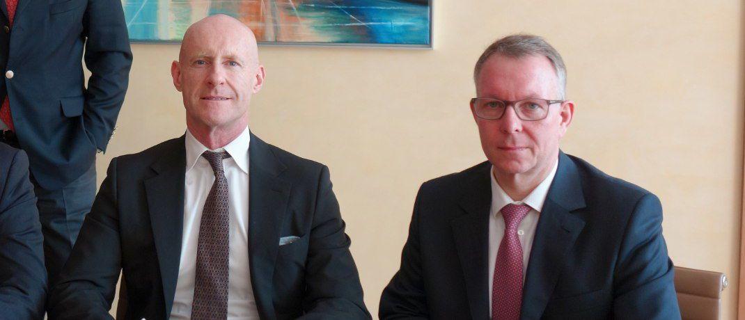 Haron-Präsident Luca Pesarini und BCA-Vorstand Frank Ulbricht (r.): Die Haron Holding will beim deutschen Maklerpool BCA AG einsteigen. Die Transaktion steht noch unter dem Vorbehalt der Zustimmung des Bundeskartellamtes.|© BCA AG