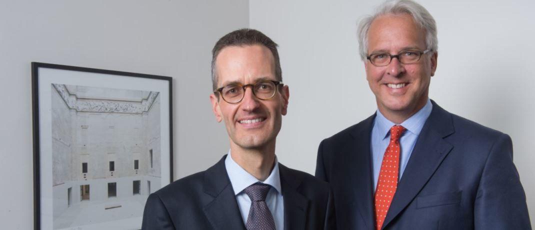 Ernst Konrad (l.) und Georg Graf von Wallwitz (r.), Fondsmanager der Phaidros Funds und Geschäftsführer von Eyb & Wallwitz Vermögensmanagement