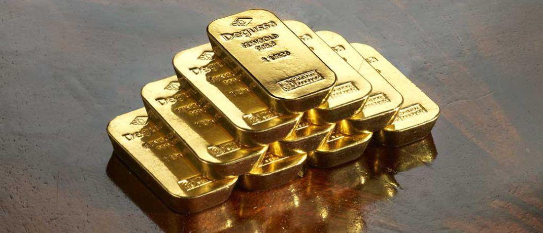 Goldbarren: Für Investoren aus dem Euroraum dürfte ein schwächelnder Außenwert der Gemeinschaftswährung den Goldpreis vorübergehend belasten.|© Degussa Goldhandel GmbH