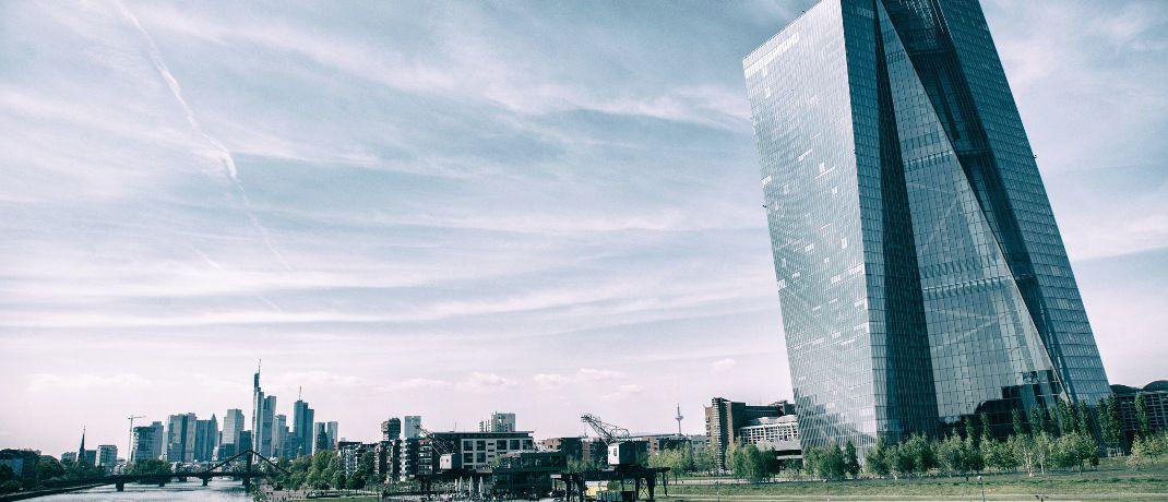 Frankfurt: Der Neubau der Europäischen Zentralbank im Ostend der Mainmetropole ist Sitz der Notenbank. © Pixabay
