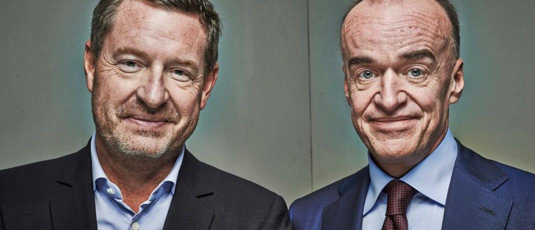 Kai Diekmann (l.) und Leonhard Fischer kennen sich aus Kindheitstagen: Nun machen sie beim Zukunftsfonds wieder gemeinsame Sache.|© Anatol Kotte/laif