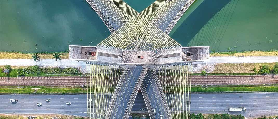 Die Ponte Estaiada in Brasilien, der zweitgrößten Länderposition im Fonds.