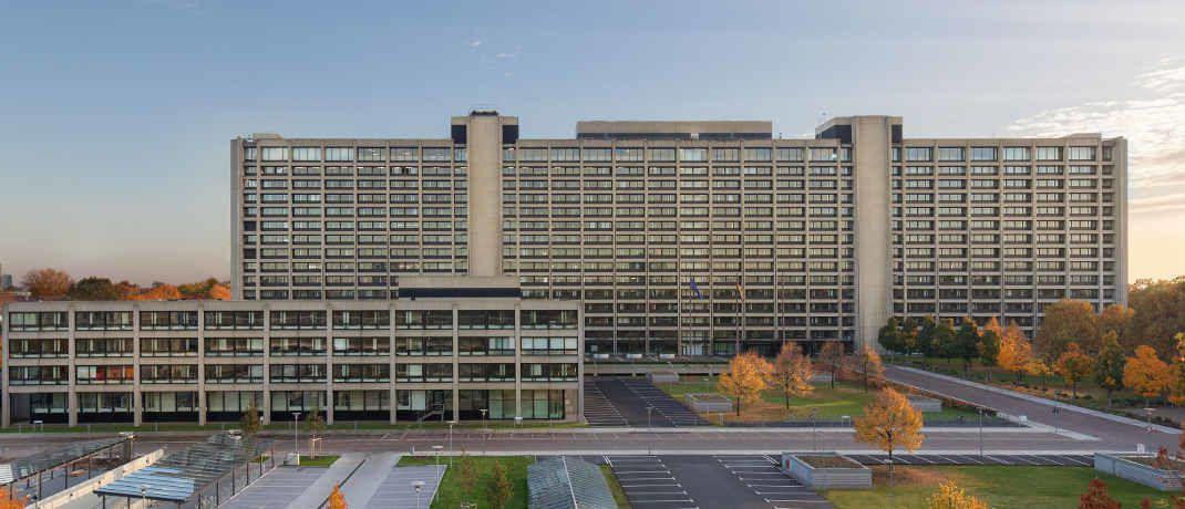 Zentrale der Deutschen Bundesbank in Frankfurt: Die Statistiker der Bundesbank beobachten eine Konsolidierungswelle bei deutschen Kreditinstituten.|© Deutsche Bundesbank / Walter Vorjohann