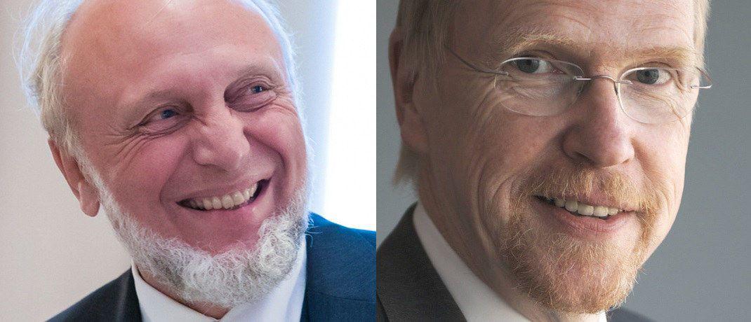 Ex-Ifo-Präsident Hands-Werner Sinn (li.) und Chef des Flossbach-von-Storch-Research-Instituts Thomas Mayer haben den Aufruf mit unterzeichnet.|© Robert Olen/FvS