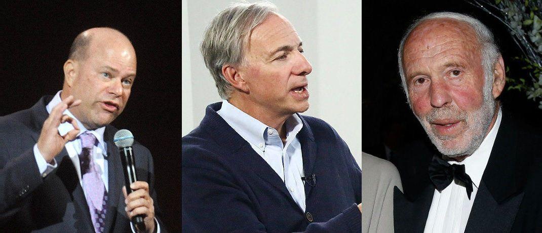 Drei der sechs Hedgefonds-Manager mit dem weltweit höchsten Jahresverdienst. Für Details klicken Sie sich durch unsere Bilderstrecke.