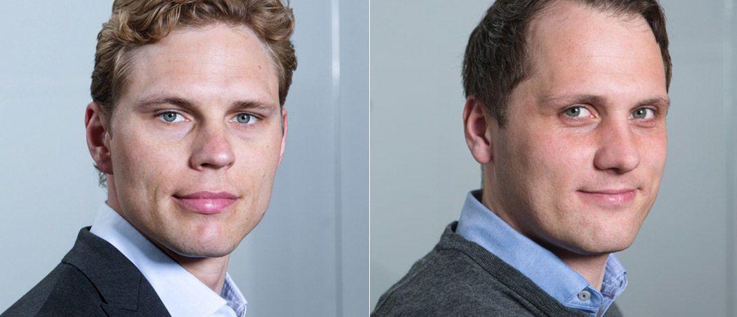 Erik  Podzuweit (l.) und Florian Prucker sind zwei der vier Gründer von Scalable Capital und zugleich Geschäftsführer beim Münchner Robo-Advisor.|© Scalable Capital