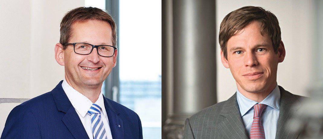 Hansainvest-Geschäftsführer Jörg W. Stotz (li.) und Marc Drießen © Hansainvest