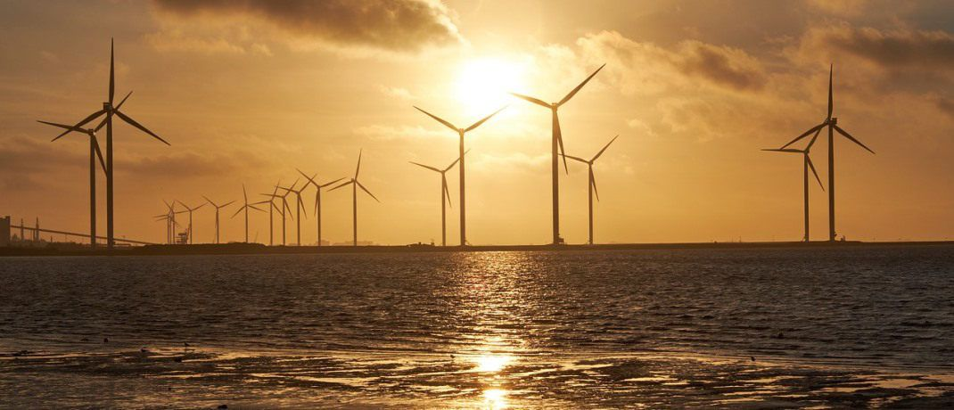 Ein Offshore-Windpark: Über die Trends in der nachhaltigen Geldanlage klärt der Marktbericht des Forums Nachhaltige Geldanlagen auf.|© Pixabay