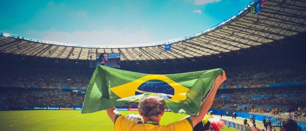 Fan der Fußballnationalmannschaft Brasiliens: Ein Kasseler Wirtschaftsprofessor verglich jetzt Ergebnisse von Fußballspielen mit der Entwicklung am Aktienmarkt.|© Caio Resende