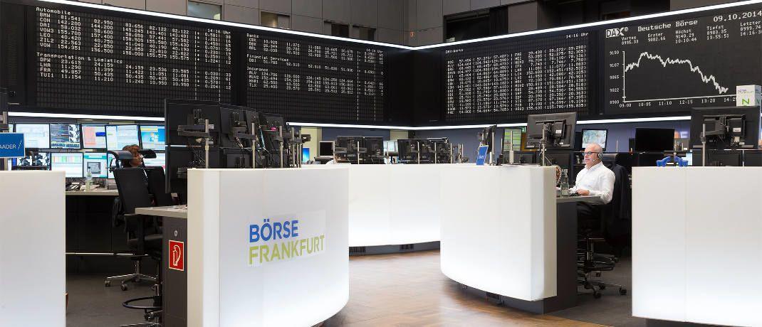 Blick auf das Frankfurter Börsenparkett: Franklin Templeton Investments startet am 26. Juni mit zwei neu aufgelegten Exchange Traded Funds (ETFs) am Markt.|© Deutsche Börse AG