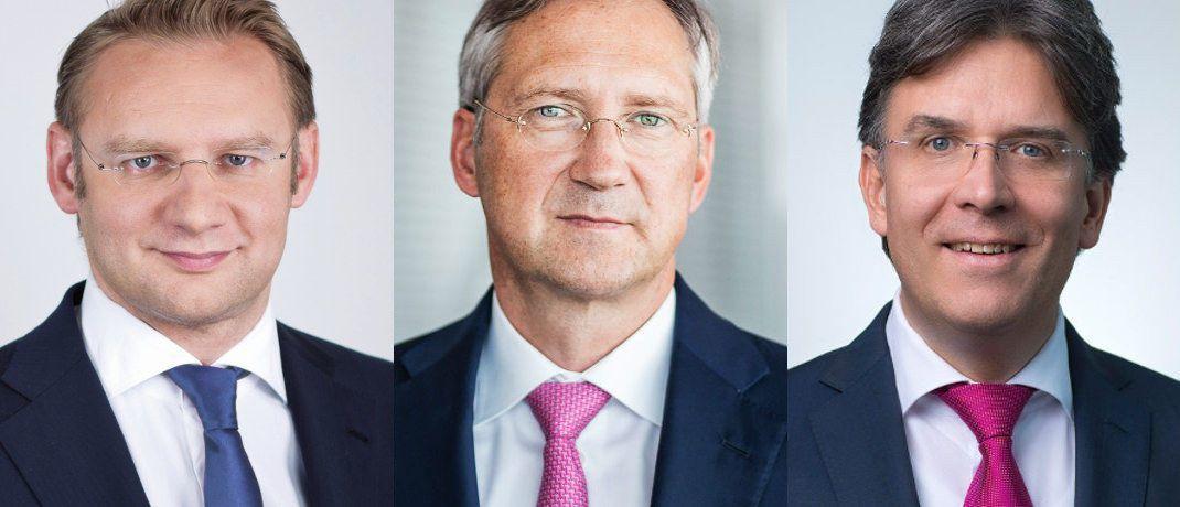 v.l.: Eckhard Sauren, Bert Flossbach und Frank Fischer