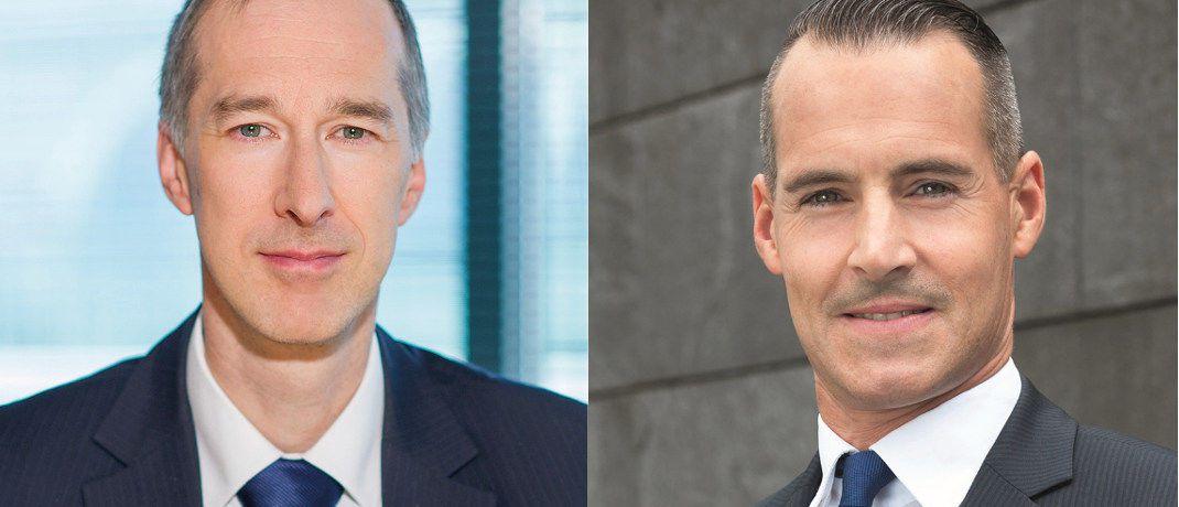 Robert Smith und Tim Albrecht (v.l.): Die Portfolios dieser beiden Fondsmanager zählen zu den besten Deutschland-Aktienfonds.|© Barings, DWS