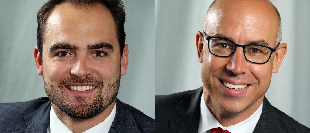Martin Braml (links) ist Doktorand am Ifo-Zentrum für Außenwirtschaft und Gabriel Felbermayr ist Leiter des Ifo-Zentrums für Außenwirtschaft und Professor für Volkswirtschaftslehre, insb. Außenwirtschaft, an der Ludwig-Maximilians-Universität München. © Ifo Institut