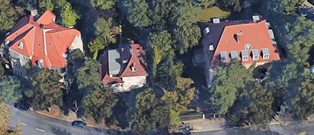 Firmensitz der Picam-Gruppe (rechtes Haus): Von dieser Berliner Villa aus soll der ehemalige Vertriebschef Thomas E. die Fäden des mutmaßlichen Schneeballsystems gezogen haben.|© Google Maps