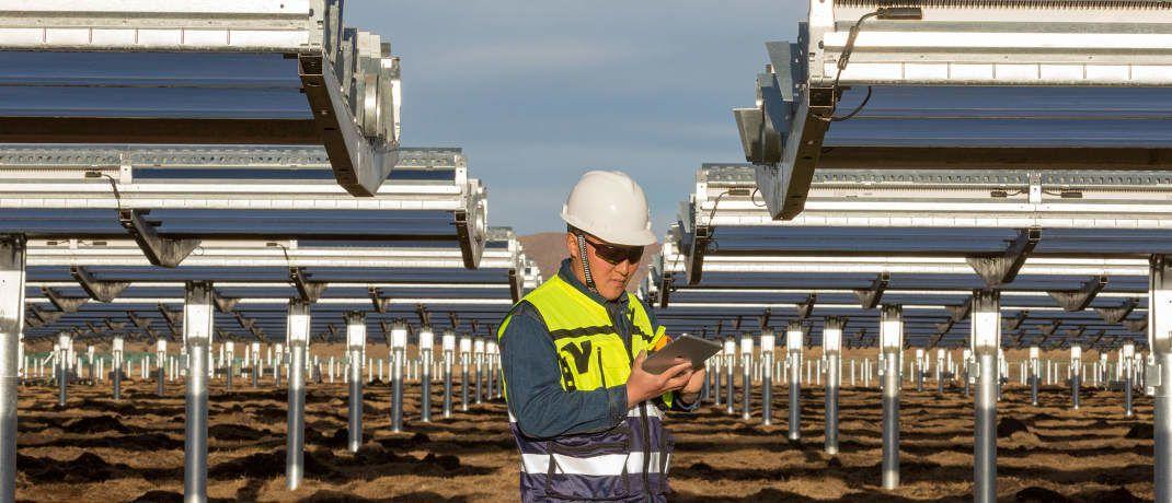 Solarkraftanlage in Sichuan, China: Die DWS hat zusammen mit Apple einen Fonds für erneuerbare Energien aufgelegt|© Apple