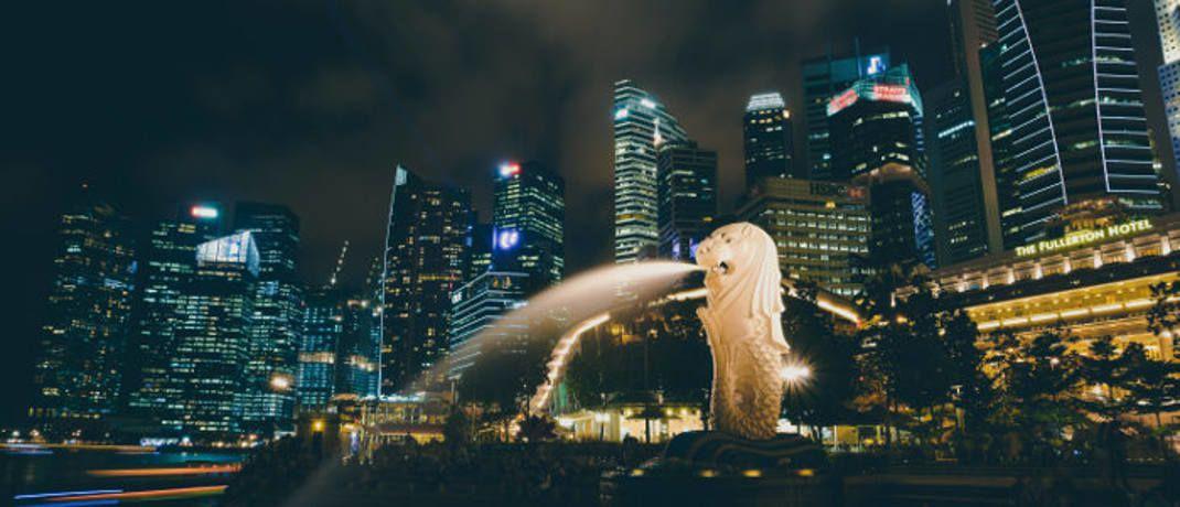 Merlion in Singapur: Laut BIZ nehmen die US-Dollar-Schulden der Schwellenländer zu