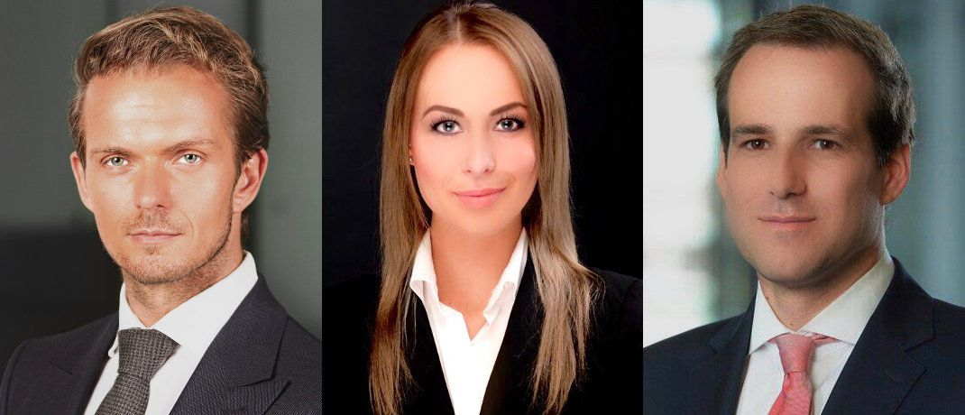 Patrick Sobotta, Anastasia Eckel und Kai Wilczek: Natixis Investment Managers erweitert aktuell sein Wholesale-Fondsvertriebsteam in Deutschland. | © Natixis Investment Managers