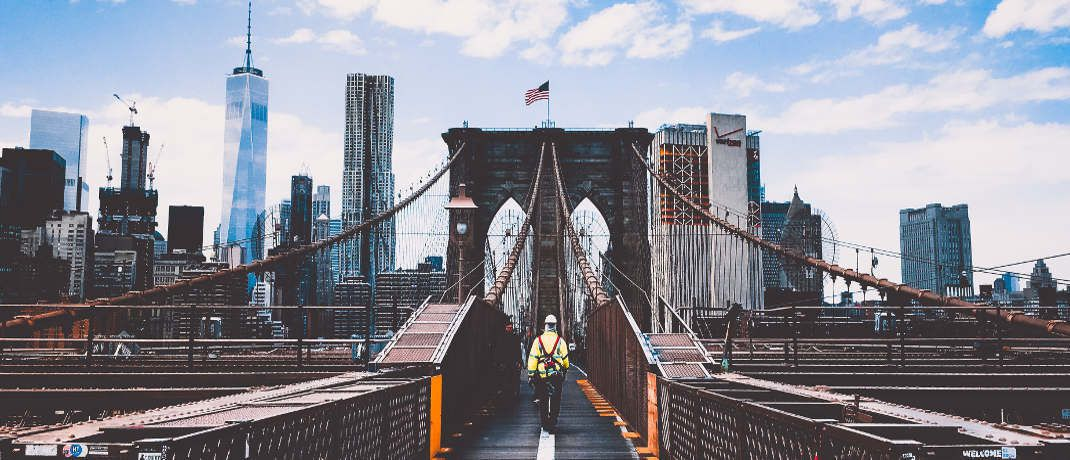 Brooklyn Bridge in New York: JO-Hambro-Fondsmanager Thorsten Becker hält viel von Small und Mid Caps