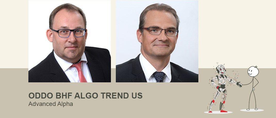 Stefan Braun und Karsten Seier sind Leiter für Systematische Strategien bei ODDO BHF AM und verwalten den ODDO BHF Algo Trend US. Das dem Fonds zugrundeliegende Faktormodell haben sie vor 18 Jahren entwickelt. |© ODDO BHF Asset Management