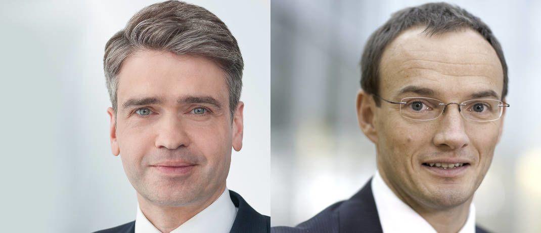 Rücken in die erste Reihe bei der DWS vor: Fondsmanager Christoph Ohme (links) und Hansjörg Pack|© DWS
