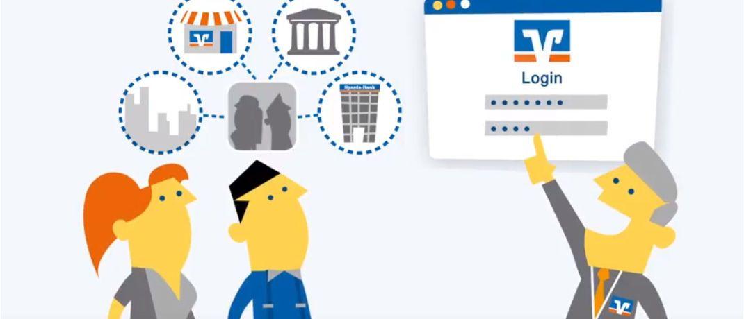 Screenshot aus Werbevideo f&uuml;r Geno Broker: Der Online-Anbieter der genossenschaftlichen Finanzgruppe bietet seinen Kunden k&uuml;nftig auch Blackrock-Portfolios an.&nbsp;|&nbsp;&copy; <a href='https://youtu.be/2mmbABfXG9k' target='_blank'> GENO Broker GmbH auf Youtube</a>