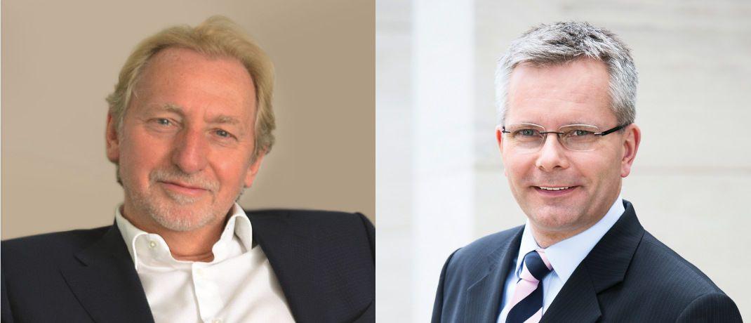 Patrick Rivière (l.) und Dirk Rogowski: Die Chefs der La Française Group und der Veritas-Gruppe haben sich auf eine Übernahme geeinigt. © La Française Group