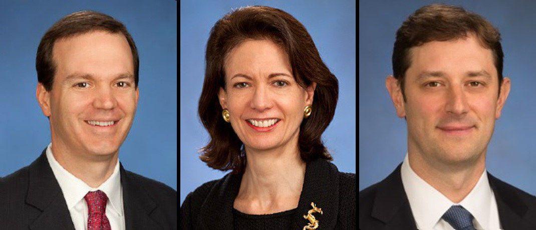 Rob Crystal, Sally Pope Davis und Sean Butkus sind zusammen leitende Portfoliomanager für Value-Strategien im KMU-Bereich bei Goldman Sachs AM.|© Goldman Sachs Asset Management
