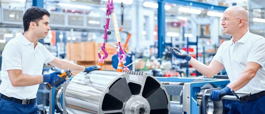 Montage bei einem namhaften deutschen Druckmaschinenhersteller: Qualitätsaktien findet von Engelbrechten überdurchschnittlich oft unter kleinen und mittelgroßen Unternehmen.  |© Koenig & Bauer