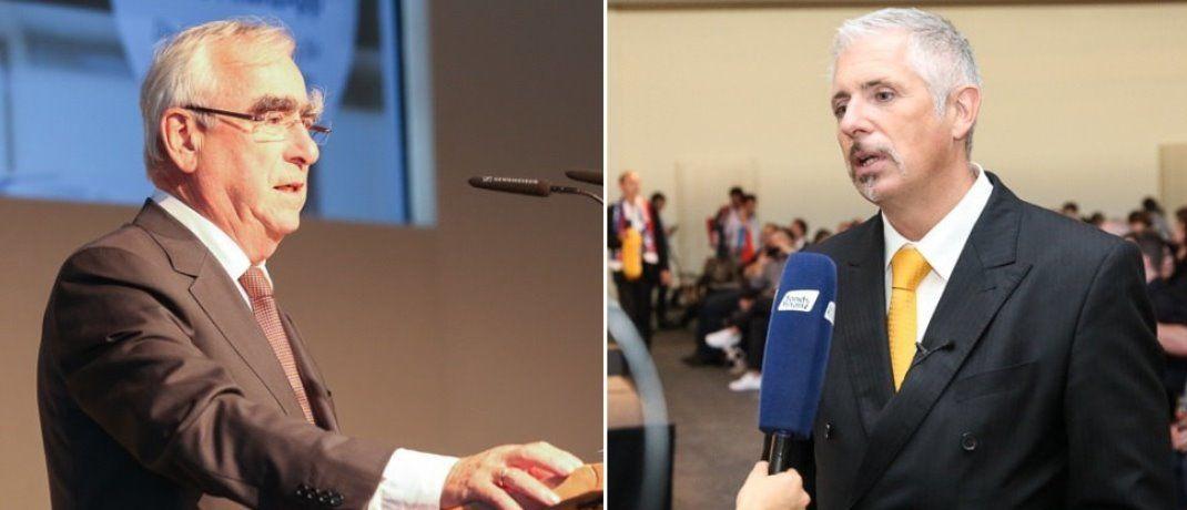 CSU-Politiker Theo Waigel (links) und Börsenexperte Dirk Müller waren die beiden Star-Redner der 9. Hauptstadtmesse der Fonds Finanz. |© Fonds Finanz