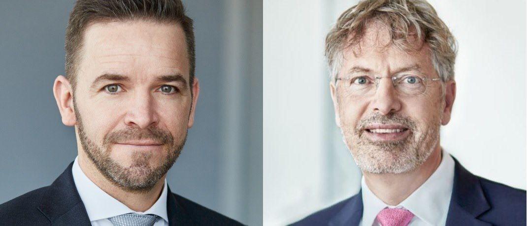 Thomas Lehr und Philipp Vorndran (v.l.): Bei der Diskussion um die Entwicklung von US-Indizes und ihren europäischen Pendants werden – leider – Äpfel mit Birnen verglichen.|© Flossbach von Storch
