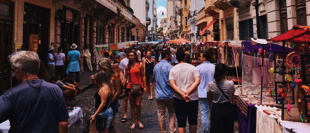 Markt in Buenos Aires: Argentiniens Wirtschaft macht schwere Zeiten durch|© Pexels