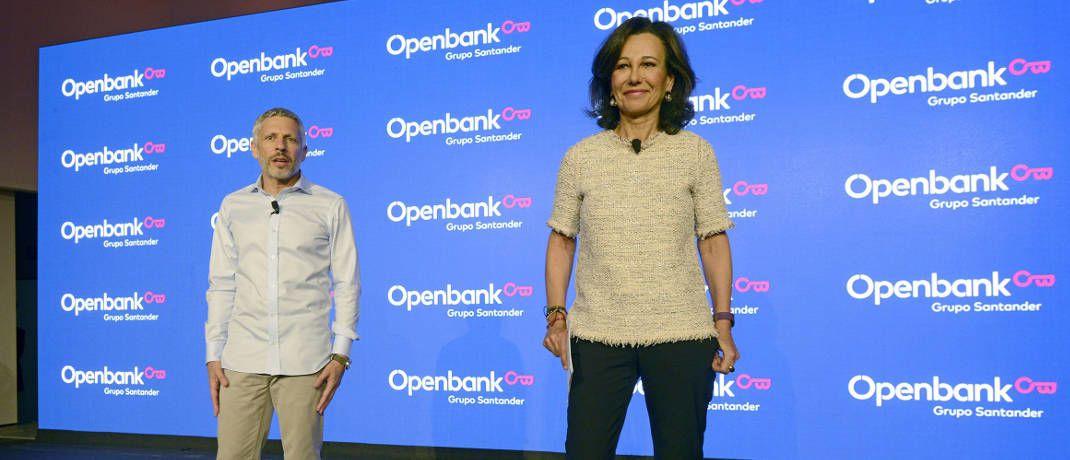 Ana Botín, Aufsichtsrats-Chefin der Santander Bank, und Ezequiel Szafir, Geschäftsführer der Openbank: Ab sofort nutzt die Openbank die Dienste von Scalable Capital|© Scalable Capital