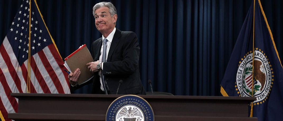 Jerome Powell ist seit Anfang Februar 2018 Chef der US-Notenbank Federal Reserve.|© Getty Images