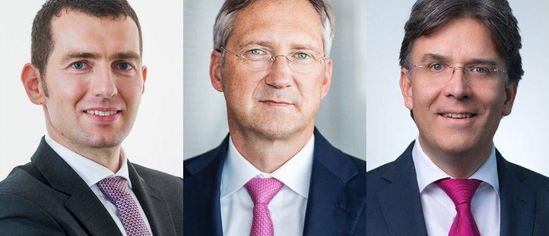 v.l.: Hendrik Muhle, Bert Flossbach und Frank Fischer|© Gané, Flossbach von Storch, Shareholder Value